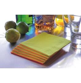 Салфетки 2-слойные, бумажные Duni Tissue, цвет: Пальмовый, размер 33 х 33 см, 125 штук