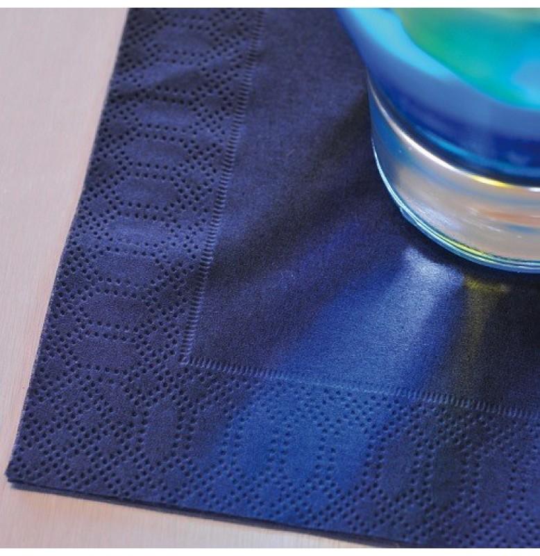 Салфетки 2-слойные, бумажные Duni Tissue, цвет: Тёмно-синий, размер 24 х 24 см, 300 штук