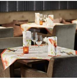 Салфетки 3-слойные, бумажные Duni Дизайнерские, цвет: Poppy, размер 33 х 33 см. 50 шт