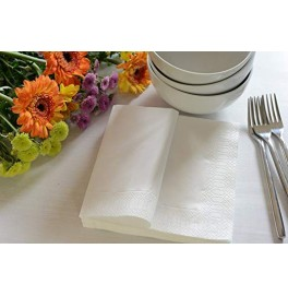 Салфетки 3-слойные, бумажные Duni Tissue, цвет: Белый, размер 33 х 33 см, 20 штук