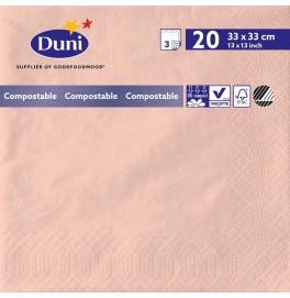 Салфетки 3-слойные, бумажные Duni Tissue, цвет: Розовый, размер 33 х 33 см, 20 штук