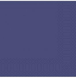 Салфетки 3-слойные, бумажные Duni Tissue, цвет: Тёмно-синий, размер 40х 40 см, 20 штук
