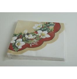 Салфетки 3-слойные, бумажные, размер 36 х 36 см, 20 штук. Цвет: Цветы