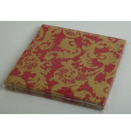 Салфетки 3-слойные, бумажные, размер 36 х 36 см, 20 штук. Цвет: Красный