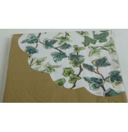 Салфетки 3-слойные, бумажные, размер 36 х 36 см, 20 штук. Цвет: Плющ