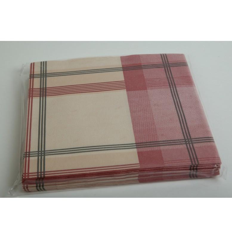 Салфетки бумажные 40 х 40 см, клетка, 12 штук