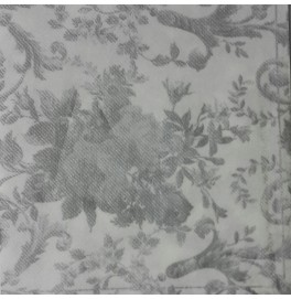 "Салфетки бумажные, цвет : ""Белое Серебро"", размер 40х40, 20 штук"