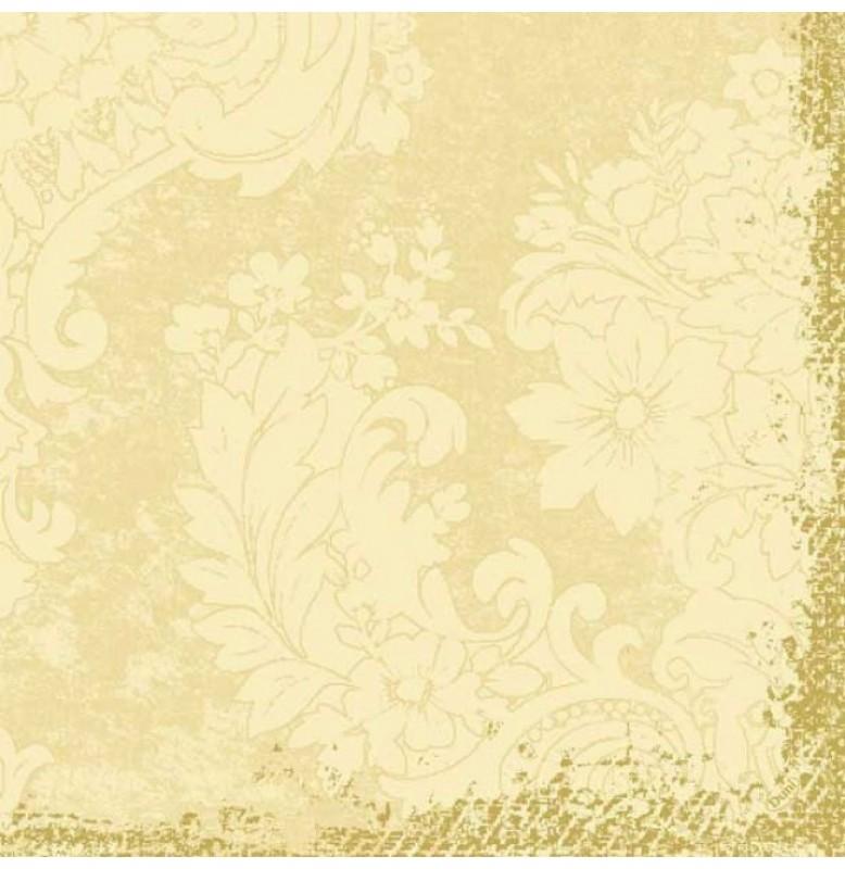 Салфетки бумажные Duni Classic дизайнерские, цвет: Royal Ваниль, размер 40 х 40 см, 4-х слойные, 50 штук