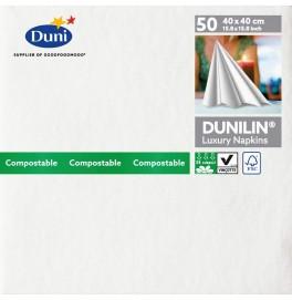 Салфетки бумажные Dunilin, цвет: Белый, размер 40 х 40 см, 50 штук