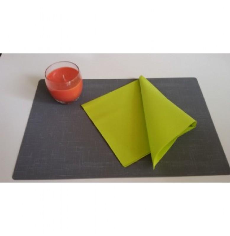 Салфетки бумажные Dunilin, цвет: Киви, размер 40 х 40 см, 50 штук