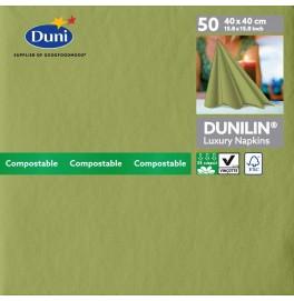 Салфетки бумажные Dunilin, цвет: Пальмовый, размер 40 х 40 см, 50 штук