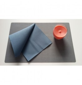 Салфетки бумажные Dunilin, цвет: Серо-синий, размер 40 х 40 см, 50 штук
