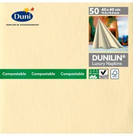 Салфетки бумажные Dunilin, цвет: Ваниль, размер 40 х 40 см, 50 штук