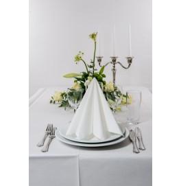 Салфетки бумажные Dunisoft Airlaid, цвет: Белый, размер 40 х 40 см, 60 штук