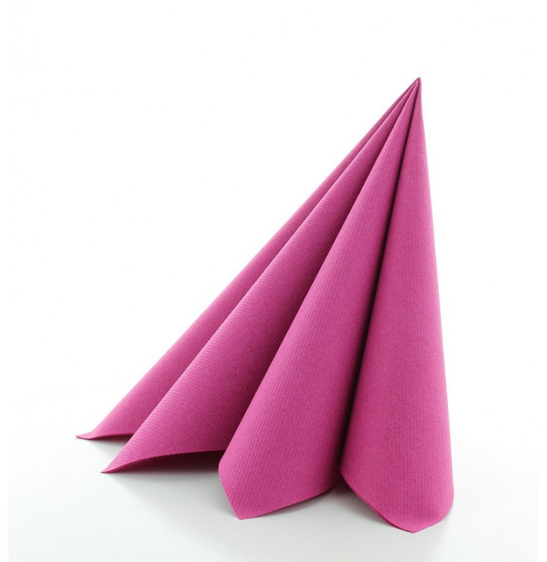 Салфетки бумажные Dunisoft Airlaid, цвет: Фуксия, размер 40 х 40 см, 60 штук