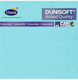 Салфетки бумажные Dunisoft Airlaid, цвет: Голубой/мятный, размер 40 х 40 см, 12 шт