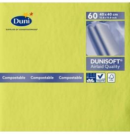 Салфетки бумажные Dunisoft Airlaid, цвет: Киви, размер 40 х 40 см, 60 штук