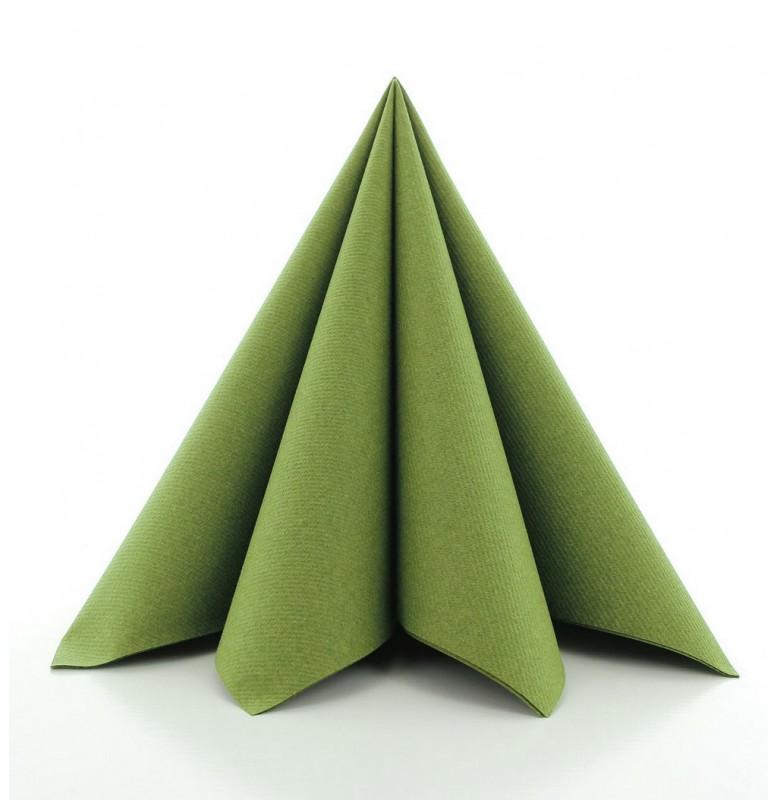 Салфетки бумажные Dunisoft Airlaid, цвет: Пальма, размер 40 х 40 см, 12 шт