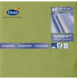 Салфетки бумажные Dunisoft Airlaid, цвет: Пальмовый, размер 40 х 40 см, 60 штук