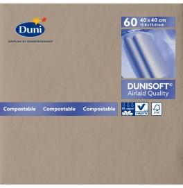 Салфетки бумажные Dunisoft Airlaid, цвет: Серо-бежевый, размер 40 х 40 см, 60 штук