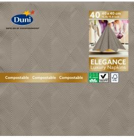 Салфетки бумажные ELEGANCE CRYSTAL 40х40 см, цвет: Серо-бежевый , размер 40 х 40 см, 40 штук