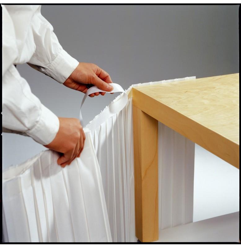 Фуршетная юбка DUNICEL 0,72 х 4 м. Цвет: белый. 1 штука