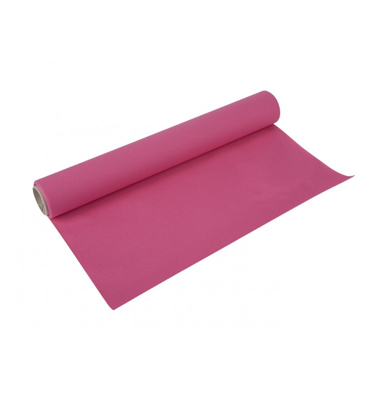 Скатерть – дорожка бумажная DUNICEL. Размер: 0,4 х 4.8 м. Однотонная цветная. Цвет: Фуксия. 1 штука