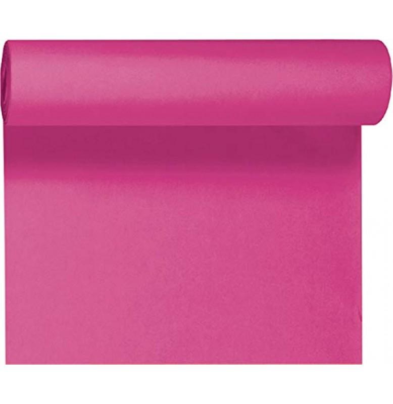 Скатерть – дорожка DUNICEL. Размер: 0,4 х 24 м. Однотонная цветная. Цвет: Фуксия. 1 штука