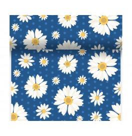 Скатерть – дорожка DUNICEL дизайнерская. Размер: 0,4 х 4.8 м. Цвет: MY DAISY BLUE. 1 штука
