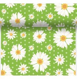 Скатерть – дорожка DUNICEL дизайнерская. Размер: 0,4 х 4.8 м. Цвет: MY DAISY GREEN. 1 штука