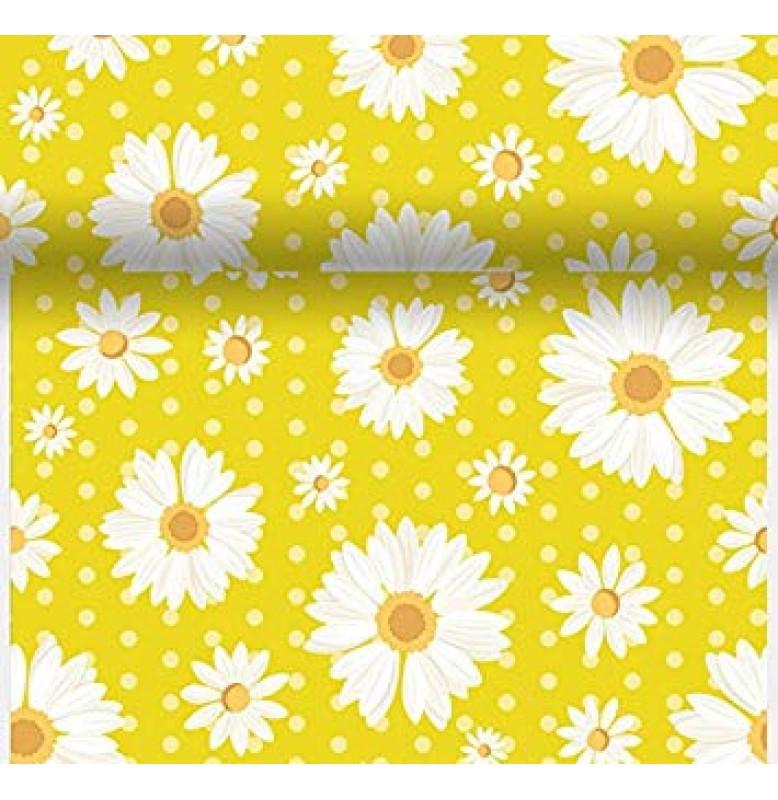 Скатерть – дорожка DUNICEL дизайнерская. Размер: 0,4 х 4.8 м. Цвет: MY DAISY YELLOW. 1 штука