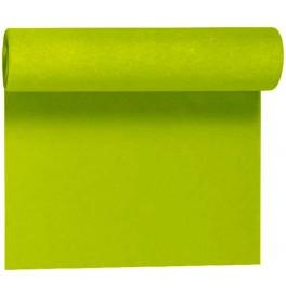 Скатерть – дорожка DUNICEL. Размер: 0,4 х 24 м. Однотонная цветная. Цвет: Киви. 1 штука
