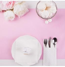 Скатерть – дорожка бумажная DUNICEL. Размер: 0,4 х 4.8 м. Однотонная цветная. Цвет: Розовый. 1 штука