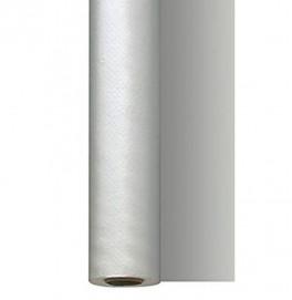 Скатерть – дорожка DUNISILK водостойкая. Размер: 0,4 х 4.8 м. Однотонная цветная. Цвет: СЕРЕБРО. 1 штука