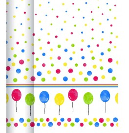 Скатерть DUNICEL FESTINA 1,20 х 40 м в рулоне. Цвет: Воздушные шарики. 1 штука