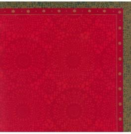 Скатерть (наперон) DUNICEL 84 х 84 см, дизайнерские. Цвет: FESTIVE CHARME. 1 штука