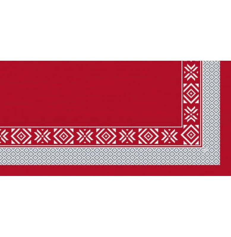 Скатерть (наперон) DUNICEL 84 х 84 см, дизайнерские. Цвет: WINT FEELENG RED. 1 штука