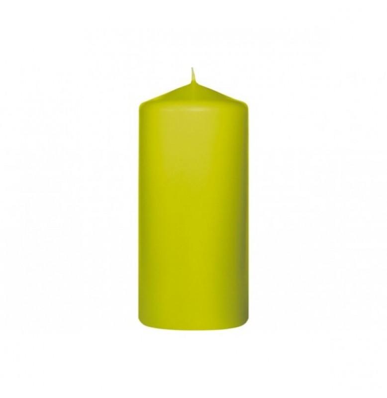 Свеча PILLAR 130х60 мм. Цвет: киви; 1 шт